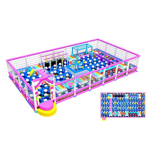 Candy Theme Adventure Indoor Playground Ball Pit for Kids