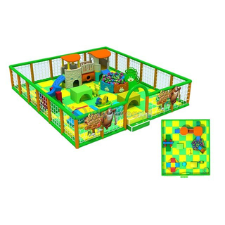 Jungle Theme Small Soft Indoor Playground for Toddler