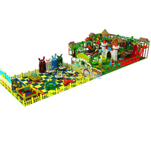 Jungle Themed Amusement Adventure Soft Indoor Playground for Kids