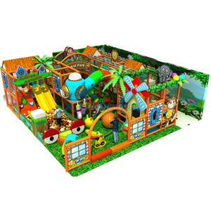 Jungle theme Adventure Children Small Indoor Playground Equipment with Ball Pit
