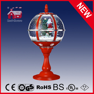 (LT30059B-RS10) Christmas Tree and Santa Claus Decoration Tabletop Lamp with Lace