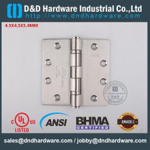 ANSI / BHMA GRADE 2-SSS316 Fire Rated 2BB dobradiça com UL listado para Metal Door-4.5x4.5x3.4mm