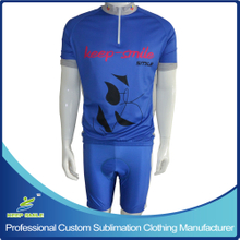 Customized Sublimation Printing Cycling Suit with Jersey and Bib Short