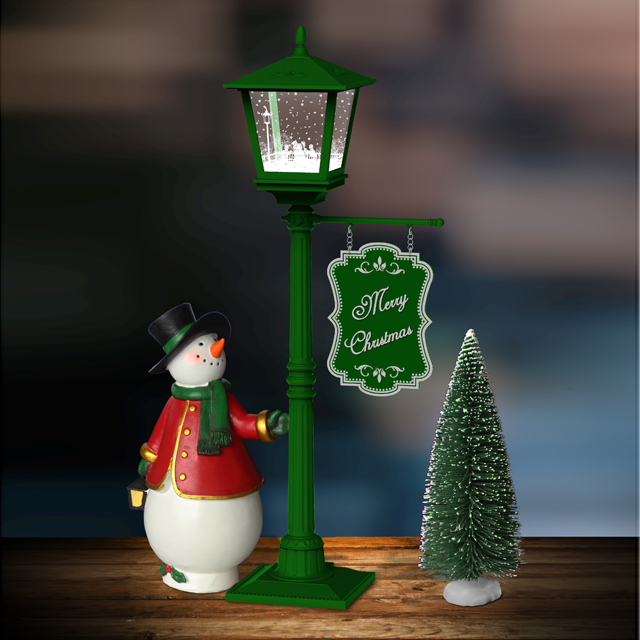Merry Christmas To You!Cute Desk Lamp with Falling Snow Wholesale