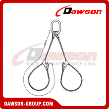 WS82-TTD Tapered Eye Splice Wire Rope Slings