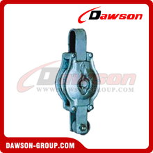 DS-B007 Malleable Iron Shell Block For Manila Rope Single Sheave Without Shackle
