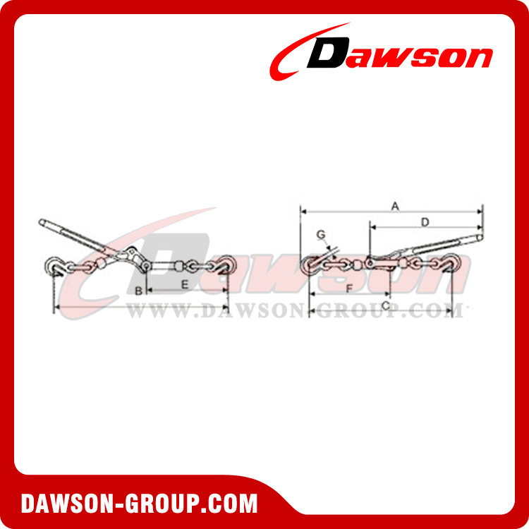 DSLLGH LEVER TYPE LOAD BINDER WITH GRAB HOOK dawson