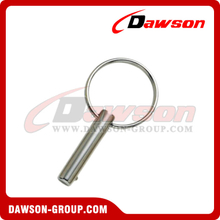Stainless Steel Rolding-Up Pin with Round Ring