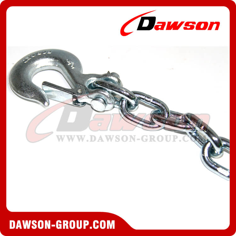 G43 Trailer Safety Chains Assembly with Slip Clevis Hook Latch - China Factory