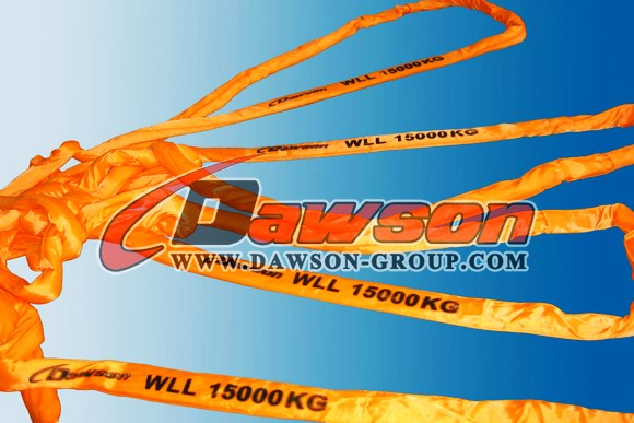 WLL 15T Polyester Round Slings AS 4497