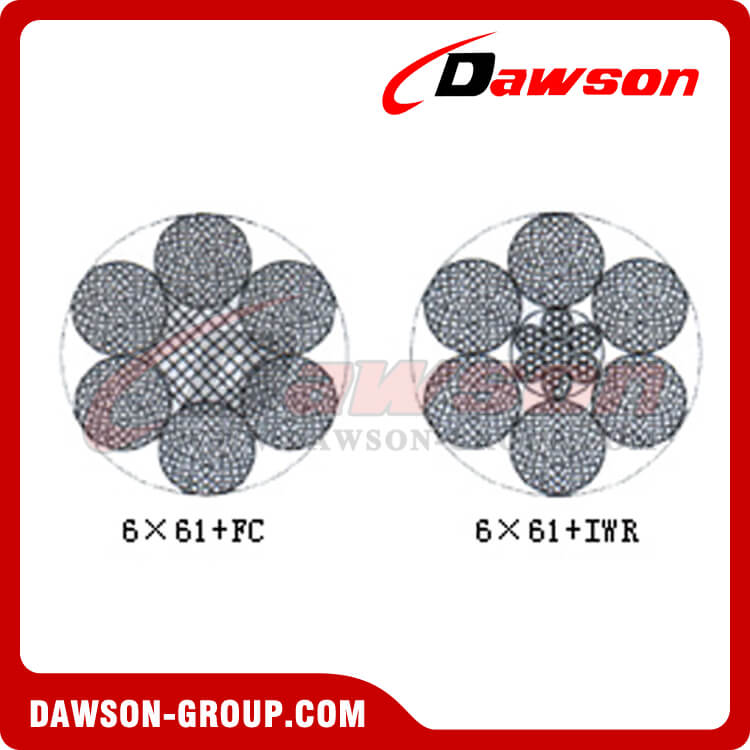 Steel Wire Rope Construction(6×61+FC)(6×61+IWR) - China ...