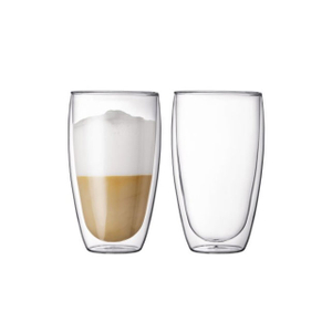 15oz Double Wall Glass Cup