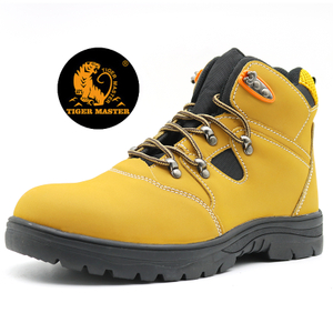 High-cut oil acid resistant anti puncture safety boots steel toe