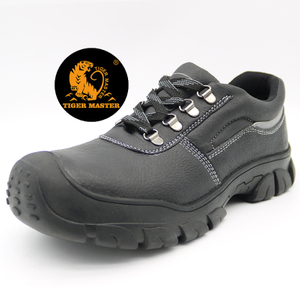 Oil Resistant Anti Slip Leather Work Shoes Steel Toe Cap
