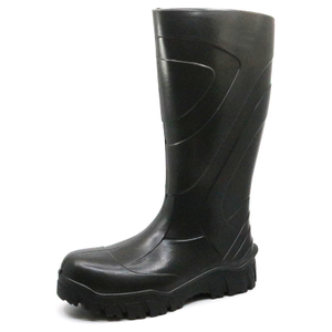 Black Non Slip Chemical Resistant Composite Toe PU Safety Rain Boots