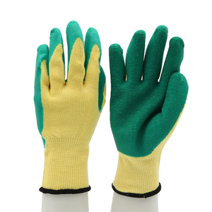 Custom Logo Poly-cotton Liner Latex Gloves CE EN 388