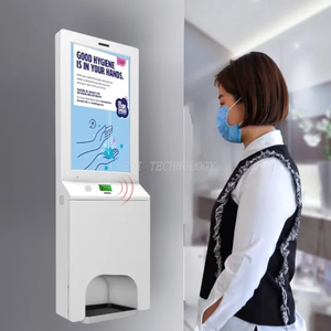 2020 New Product for Hospital Safeguard Hand Instant Digital Hand Sanitizer Kiosk with or Non-Touch Screen