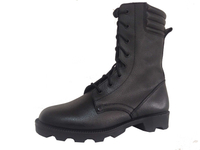 military combat boots genuine leather french style