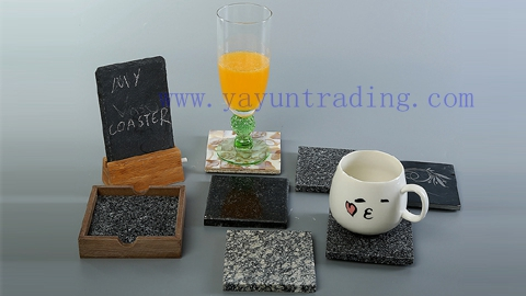 juice soft drink colored overlay drinking glass cup and coaster