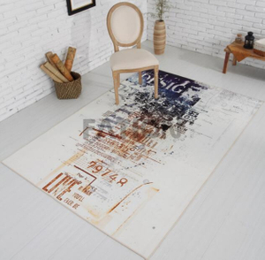 Polyester Print Carpet Non-woven Backing Anti-slip Area Rug