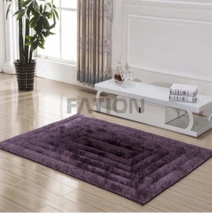 Solid Purple 3D Shag Carpet Rug Home Decor Rug