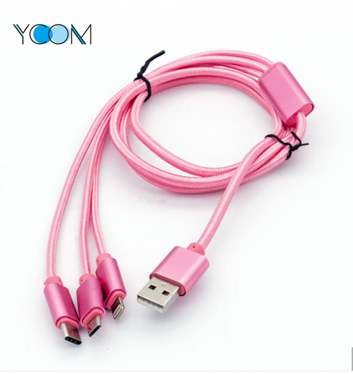 3 in 1 USB Data Cable for Mobile Phone