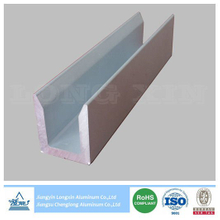 Sliver Anodizing Matt Aluminum Profile with U-Shape