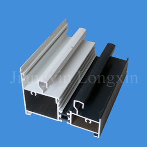 White & Grey Powder Coating Aluminium Extrusion for Windows