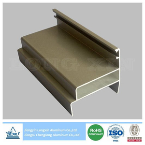 Champagne Anodized Aluminium Profile as Door Frame