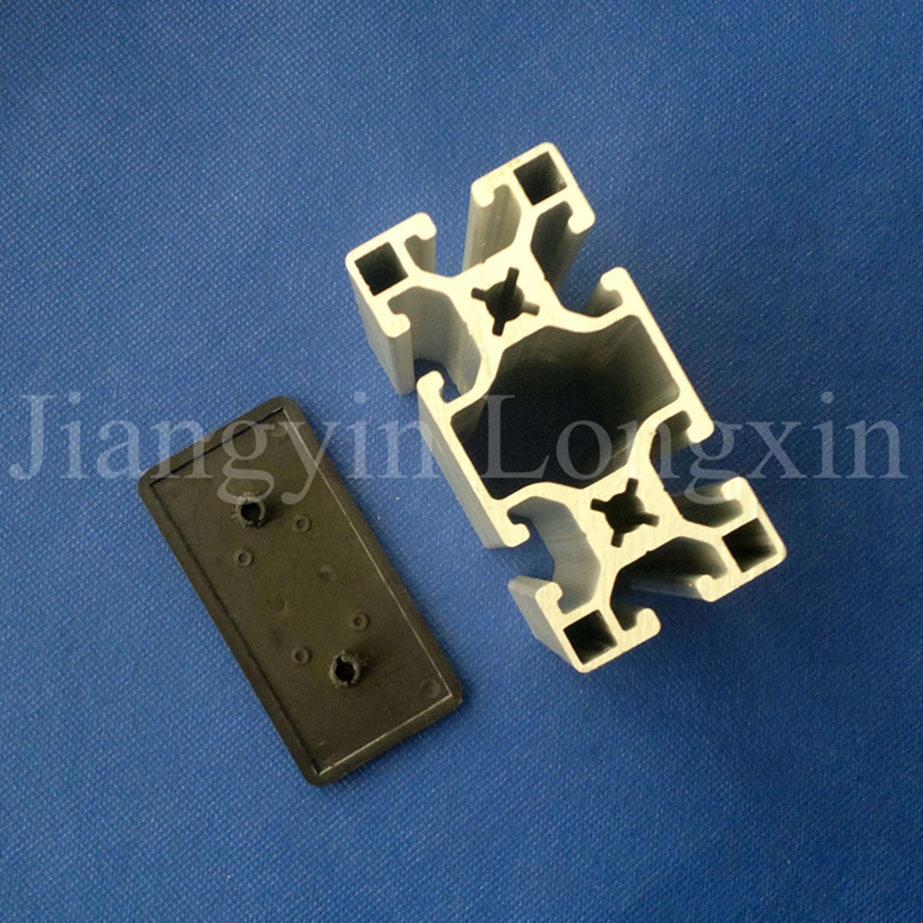 Natural Anodized Aluminium Profile for Industry with Cap