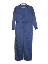 Navy blue one piece work garments coverall