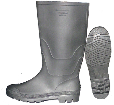light duty PVC rain boots for normal using