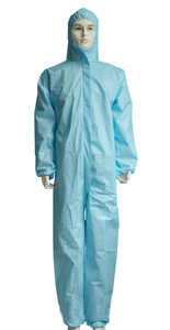 Blue Coverall Disposable Coverall With Hood Blue Wear