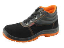 2015 new developed microfiber leather PVC sole working safety boots