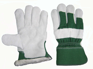 1205 leather warming working gloves