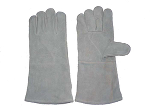 1310 fully lined cow split leather working gloves for welder
