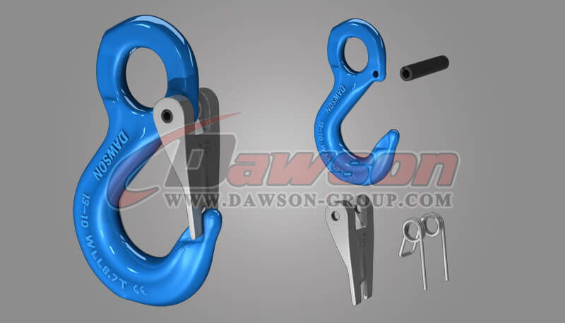 G100 Eye Sling Hook with Latch for Lifting Slings, Grade 100 Eye Sling Hook for Lifting Chains - China Supplier, Factory