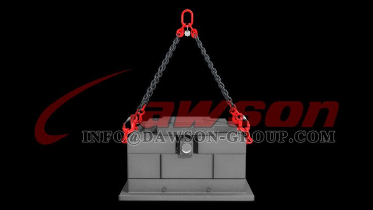 Application of G80 Alloy Steel Eye Sling Hook with Cast Latch for Lifting Chain Slings - Dawson Group Ltd. - China Manufacturer