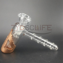 Gold Nail Hammer Metal Glass Water Pipe
