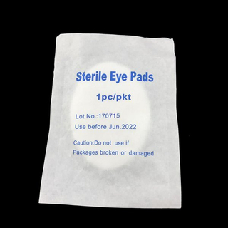 medical natural cotton non-woven absorbent sterile eye pads