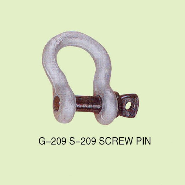 G-209 S-209 US TYPE HIGH TENSILE FORGED BOW SHACKLE