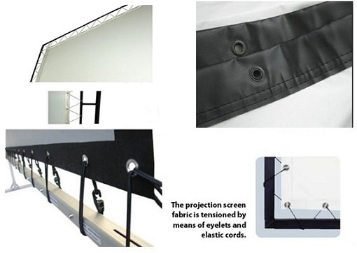 Customized Eyelets Projection Screen Portable Projector Screen For Outdoor