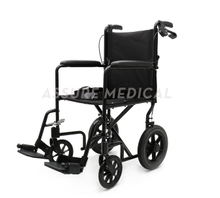 AL-BL03C Aluminum Light Weight Transport Wheelchair with hand brake