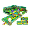 Jungle Themed Adventure Soft Kids Play Ball Pit with Obstacle