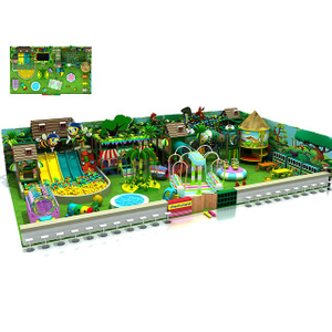 Jungle Themed Amusement Park Kids Soft Adventure Indoor Playground with Ball Pit