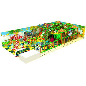 Customized Commercial Kids Indoor Jungle Gym with Ball Pit