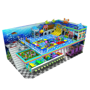 Ocean Theme Amusement Park Indoor Playground Ball Pit for Kids