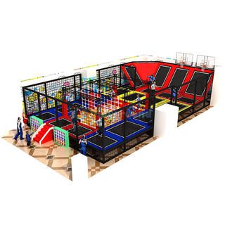 Custom Amusement Park Indoor Playground Trampoline Ninjia Course