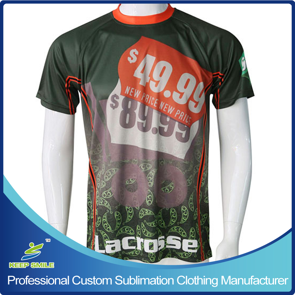 Custom Sublimation Boy's Lacrosse Shooter in Short Sleeve