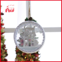 Hanging Decoration Forest House Scene Blown Glass Decoration Wholesale Home Decoration Wall Hanging